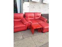 2&1 sofa with puffy