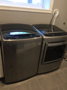 LG Washer & Dryer - Graphite Steel
