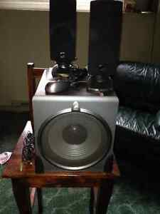 ACOUSTIC AUTHORITY SPEAKERS & SUBWOOFER