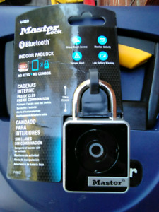 New Master Lock Bluetooth padlock.