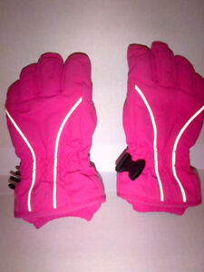 Hanna Andersson Girls PINK Winter Gloves Size Small MINT!