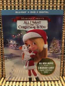 All I Want For Christmas Is You (2-Disc Blu-ray/DVD,2017)+Slipco