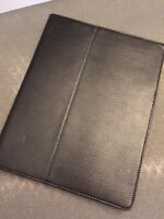 Black leather case for iPad 2