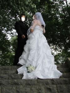 Robe de mariée style princesse taille 16-18