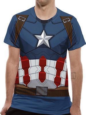 Official Lizenziert - Bürgerkrieg - Captain America Kostüm - Herren Bürgerkrieg Kostüme
