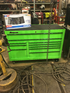 SNAP ON CLASSIC SERIES TOOL CHEST - 10 DRAWER- LIME GREEN