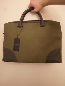 Ted Baker   Briefcase Olive Color   New