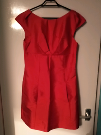 Red silk Oasis dress-New!!