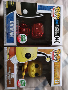 Funko Chrome BATMAN red and BUZZ BEE limit version