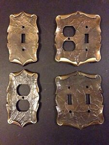 Vintage Brass electrical wall plates
