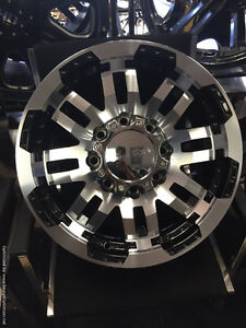 17 inch Vision Warrior Wheels -- 8x165.1 -- Gloss Black Machined