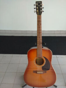 GUITARE  SIMON AND PATRICK(GODIN) VINTAGE BURST CEDAR