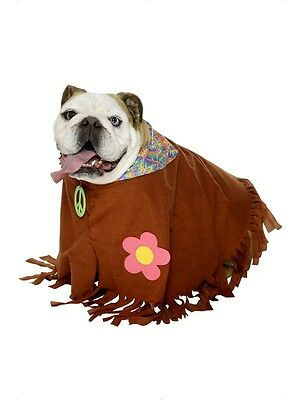 Pet Hippy Costume - Dog Fancy Dress Costume - Pet Fancy Dress - Dog Hippie Costume
