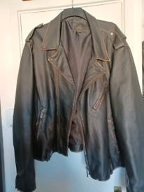 Mens bolongaro vintage leather jacket