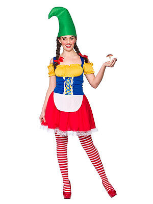 Adult Ladies Garden Cute Gnome Fairytale Pixie Storybook Fancy Dress Costume - Garden Gnome Costume Adults