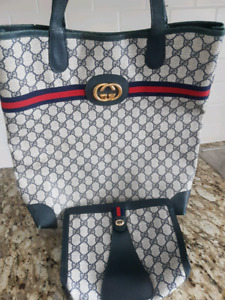 AUTHENTIC GUCCI LARGE TOTE BAG MATCHING CLUTCH $900 only!