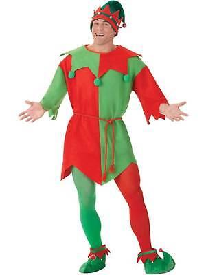 Adult Elf Costume Santas Little Helper Christmas Xmas Mens Womens Fancy Dress