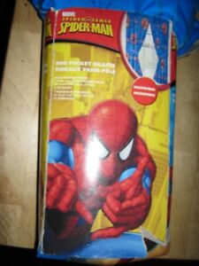 spiderman rod pocket drapes & package deal. all new. firm.