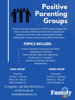 Positive Parenting Groups - Moms and Dads