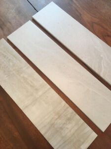 "6"" x 24"" grey porcelain tile (300+ sq. ft)"