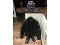 Motorcycle Gear - Helmet, Jacket, Boots & Gloves.
