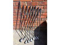 Kids half set of graphite golf clubs
