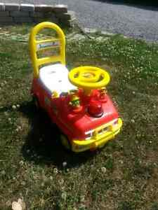 Leap Frog Ride and Push Fire Truck