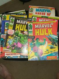 7× hulk comics 1974