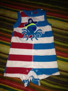 6-9 month one piece summer outfit