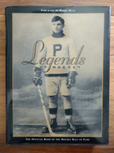 """""""Legends of Hockey"""" Hardcover book, Excellent Condition"""