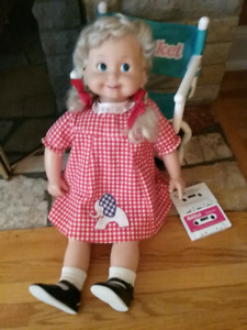 1986 Cricket Doll, Chair & 3 Cassette Tapes