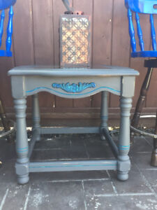 """Beautiful Rectangle """"Peacock  Inspired """" End Table"""