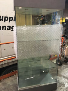 Glass & mirrored Display/ Show Case with  glass shelves  - 9/10