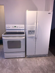 Refrigerator and Stove NEW PRICE (GATINEAU QC LOCATION)