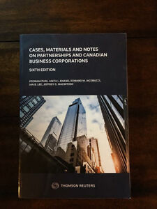 Cases, Materials and Notes on Partnerships and Canadian Business