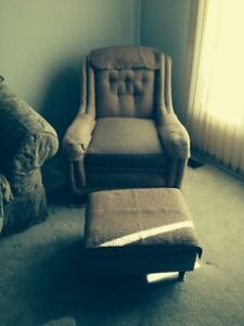Estate sale items Piano, couch, chair, beds, oak wall unit