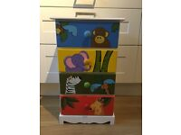 Kids jungle drawers
