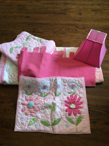 Girl's bedding and accessories
