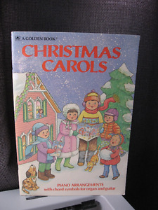 Vintage A Golden Book Christmas Carols arrangements for piano
