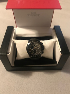 TISSOT Chronograph V8 Leather Watch (Like New)