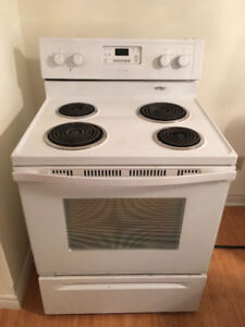 """quick saleWhirlpool 30"""" electric white coil top stove oven range"""