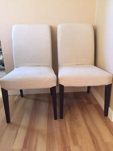 2 IKEA dining chairs