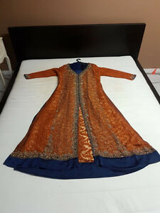 Orange & Royal Blue Dress