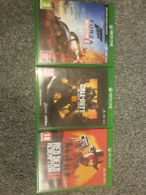 Xbox one game bundle (Red Dead Redemption 2, Forza Horizon 4, and BO4