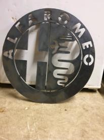 Alfa Romeo Big Metal Art Steel Sign