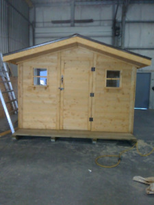 Storage sheds and shelters and green houses