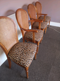 Vintage chairs professionally reupholstered.