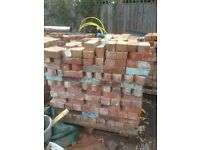 Reclaimed canted bricks