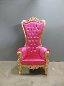Lady Gaga Throne Chair / Classic Baroque Gold / Silver Thrones