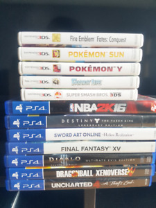PS4 & 3DS Games for Sale